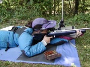 Long range prone shooting requires a combination of wind reading skills and stable position.