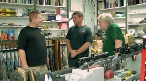 Eric Stecker meets with Tim McWhorter and Allen Rovig of McWhorter Custom Rifles