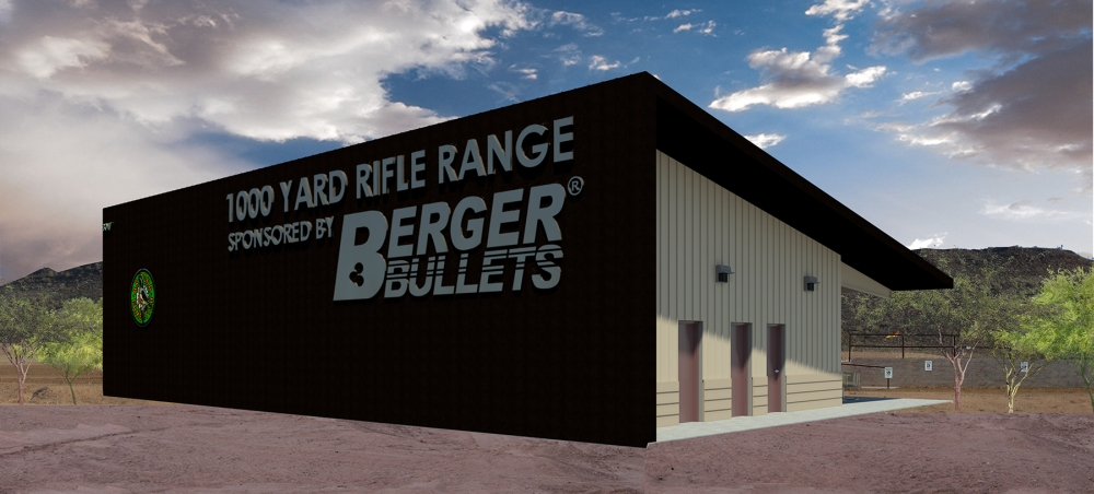 The new 1000 yard range building.