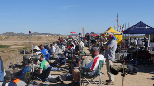 Sponsor tents provided shade and a place to relax during the day.