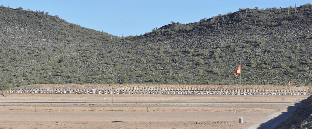All 100 targets in the air on the Ben Avery Highpower Range!