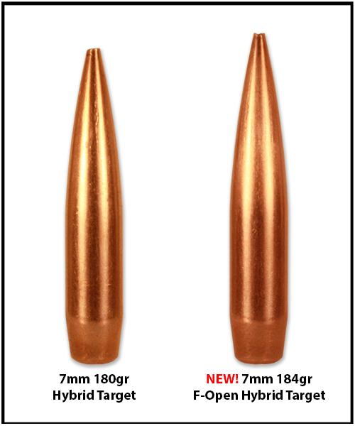 NEW – 7mm 184gr F-Open Hybrid Target Bullet – Berger Bullets
