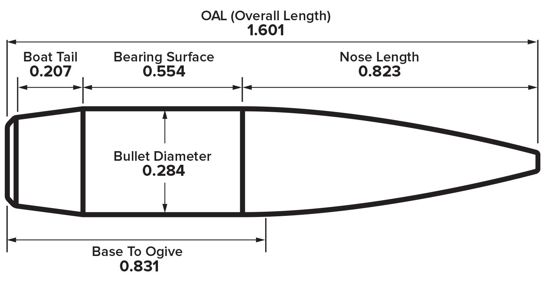 7mm 190gr LRHT Drawing