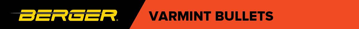 Berger Varmint Bullets Banner